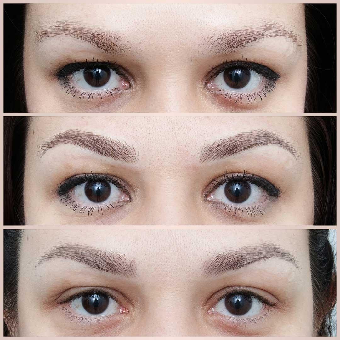 Татуаж бровей в волосковой технике фото до и после