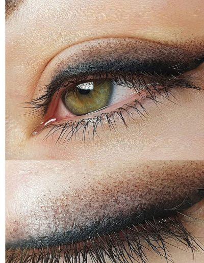 стрелка с растушевкой татуаж глаз век студия татуажа ани дубовик краснодар
