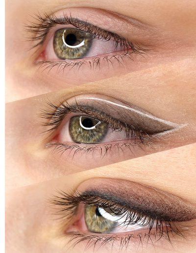 стрелка с растушевкой татуаж глаз век студия татуажа ани дубовик краснодар 11