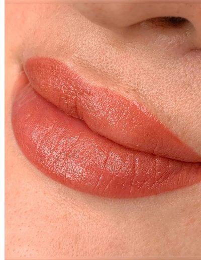 татуаж губ помадный эффет плотное заполнение цветом студия татуажа ани дубовик краснодар